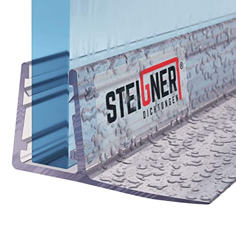 STEIGNER Duschdichtung Glasst/ärke 6// 7// 8 mm 30cm UK09 Gerade PVC Ersatzdichtung f/ür Dusche
