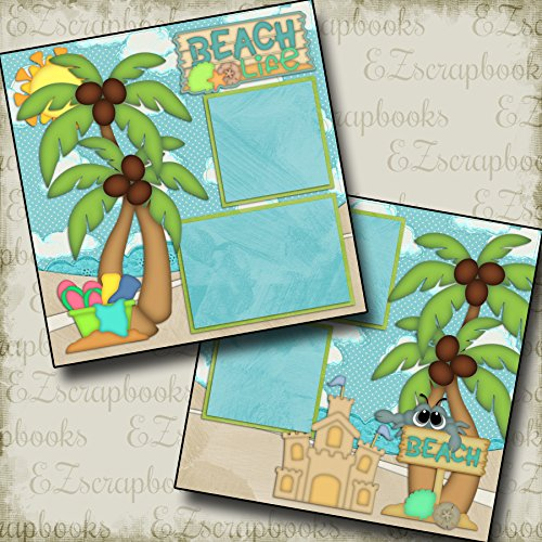 (BEACH LIFE - Premade Scrapbook Pages - EZ Layout 2115 )