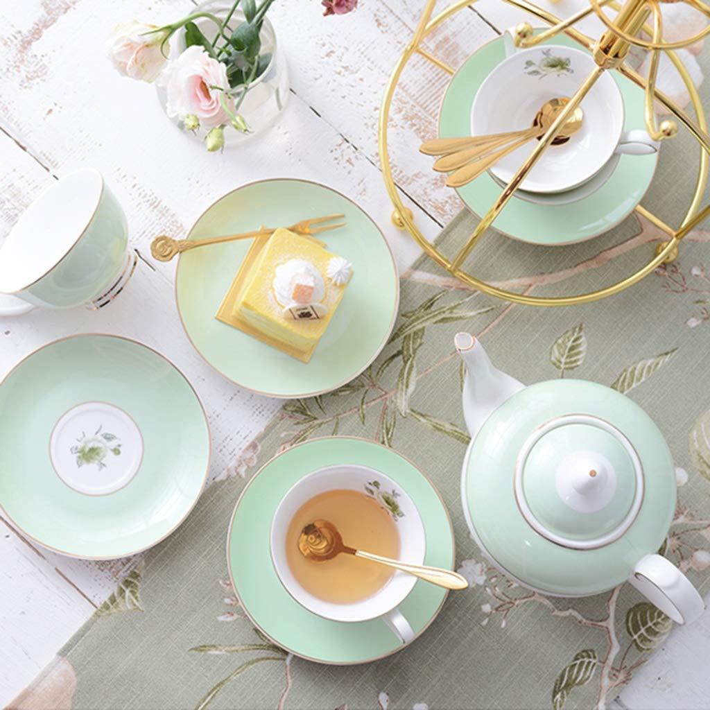 CSQ Coffee Cup Tea Set, Simple Ceramics Tea Set Meeting Room Hospitality Room Tea Set Capacity: 900ml Afternoon Tea (Color : A) by Tea set-CSQ (Image #4)