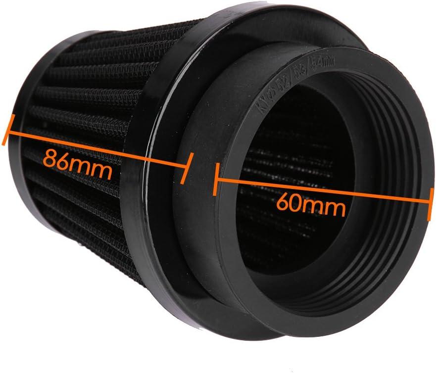 colore Everpert nero Filtro d/'aspirazione universale da 60/mm per moto