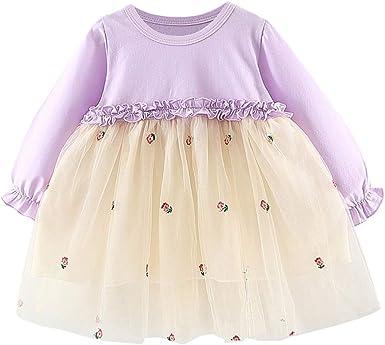 MAYOGO Vestido Tul para Bebe Niña Fiesta 2019 Vestido Princesa ...
