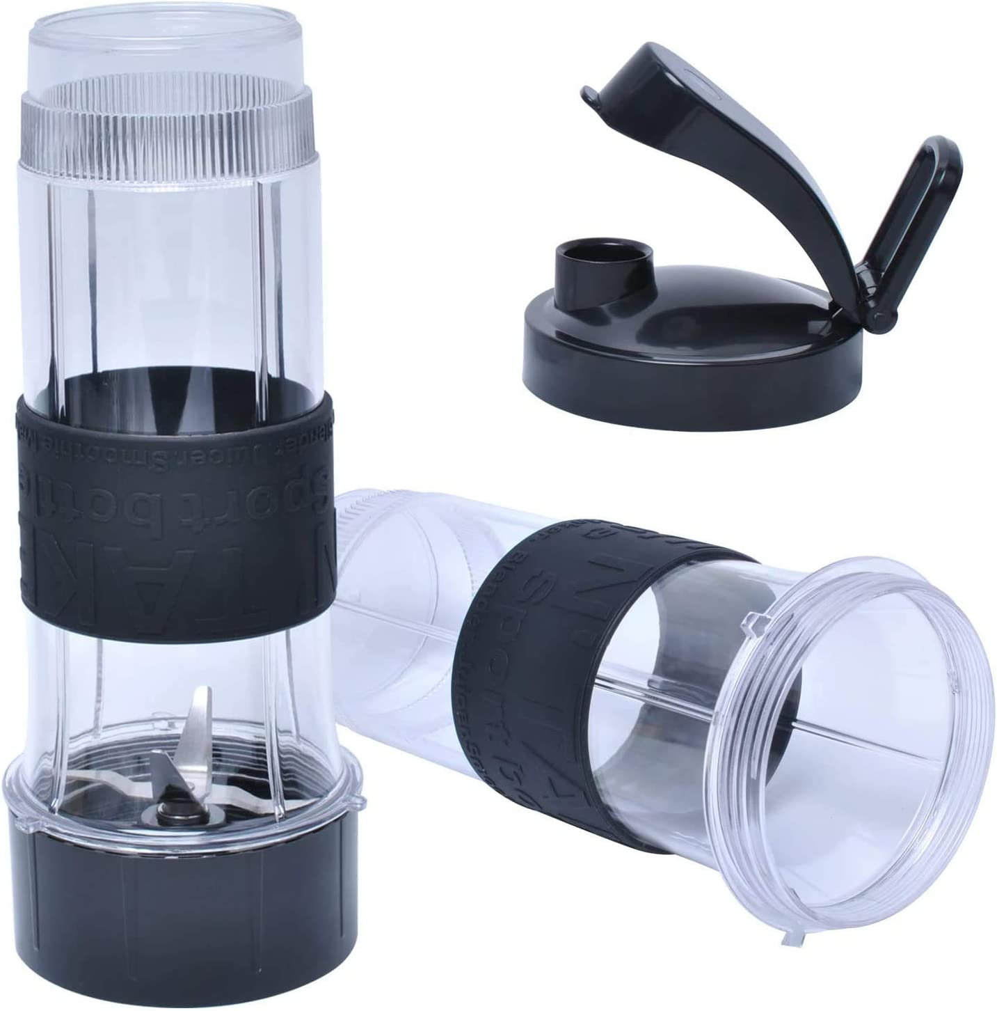 20 oz Tall Cup With Flip Top to Go Lid and Cross Blade Compatible with Magic Bullet 250W MB1001 Blender