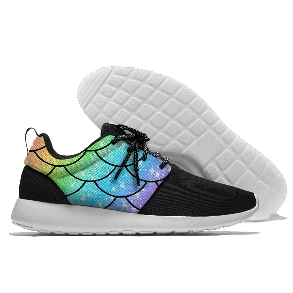 Mermaid Tail Rainbow Womens Mens Running Shoes Fashion Sneakers Casual Sports Shoes 41 Lightweight Breathable