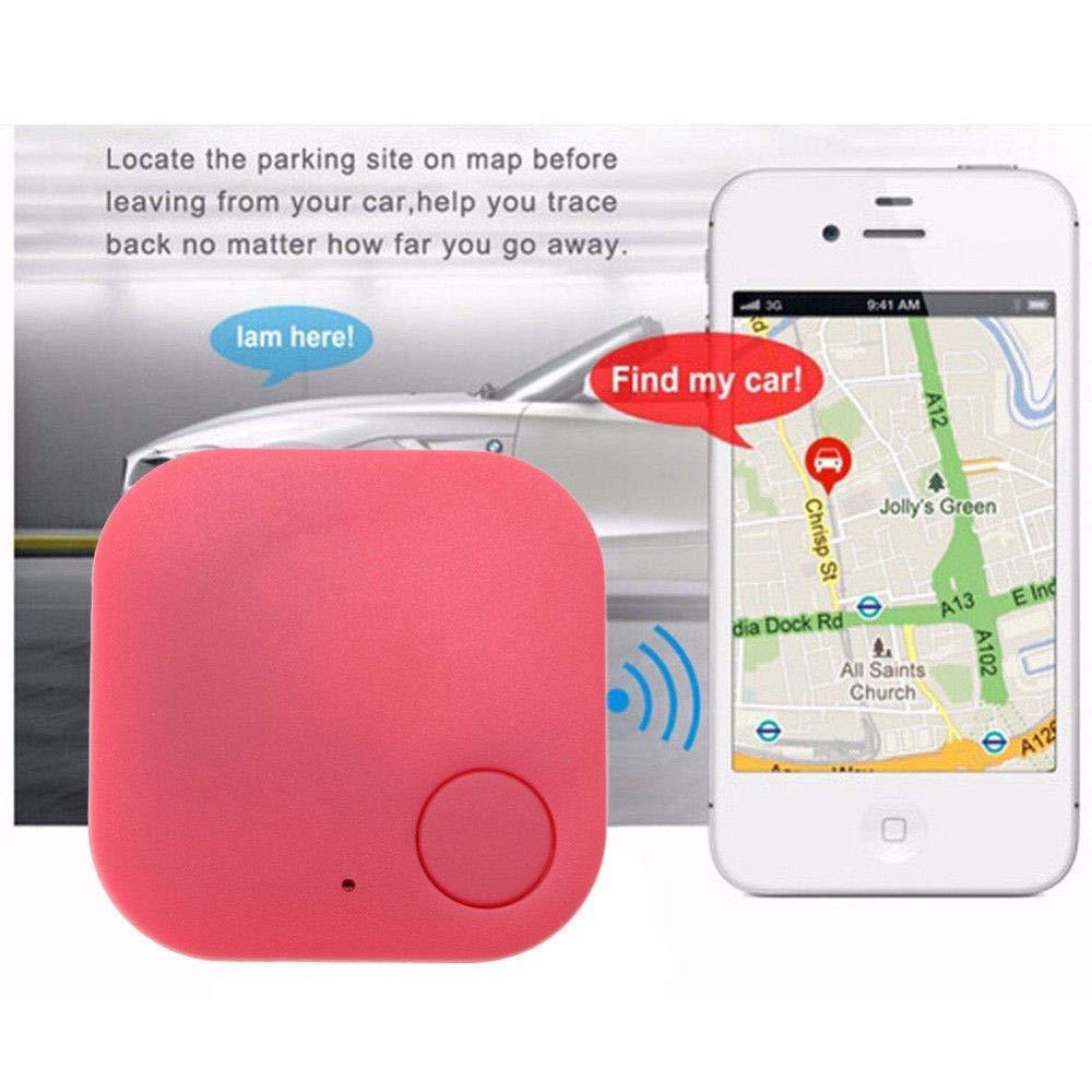 Smart Tag Inal/ámbrico Bluetooth 4.0 Buscador de Rastreador Ni/ño Bolsa para Ni/ños Llave de Monedero Mascotas Perro Localizador de GPS Sensor de Alarma Llavero Anti-perdido Negro