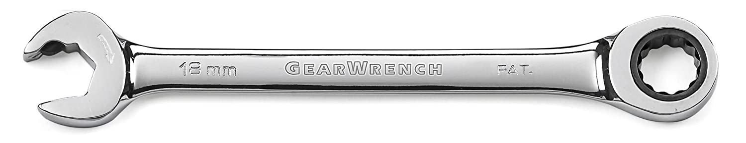 GEARWRENCH 85509 9mm 12 Point Open End Ratcheting Combination Wrench Black Apex Tool Group
