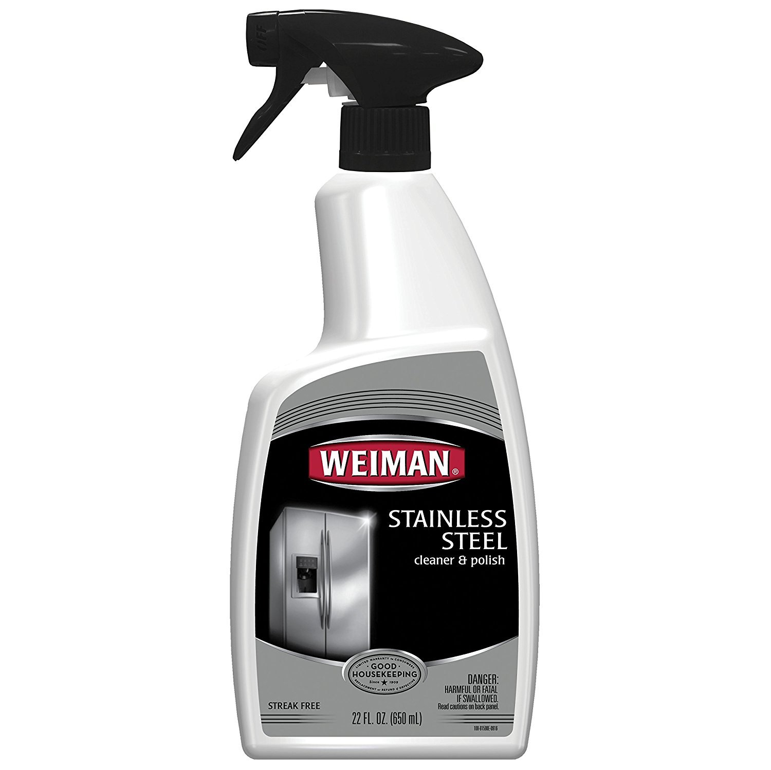 Weiman Stainless Steel Cleaner & Polish Trigger Spray, 4PACK (88 oz toal)