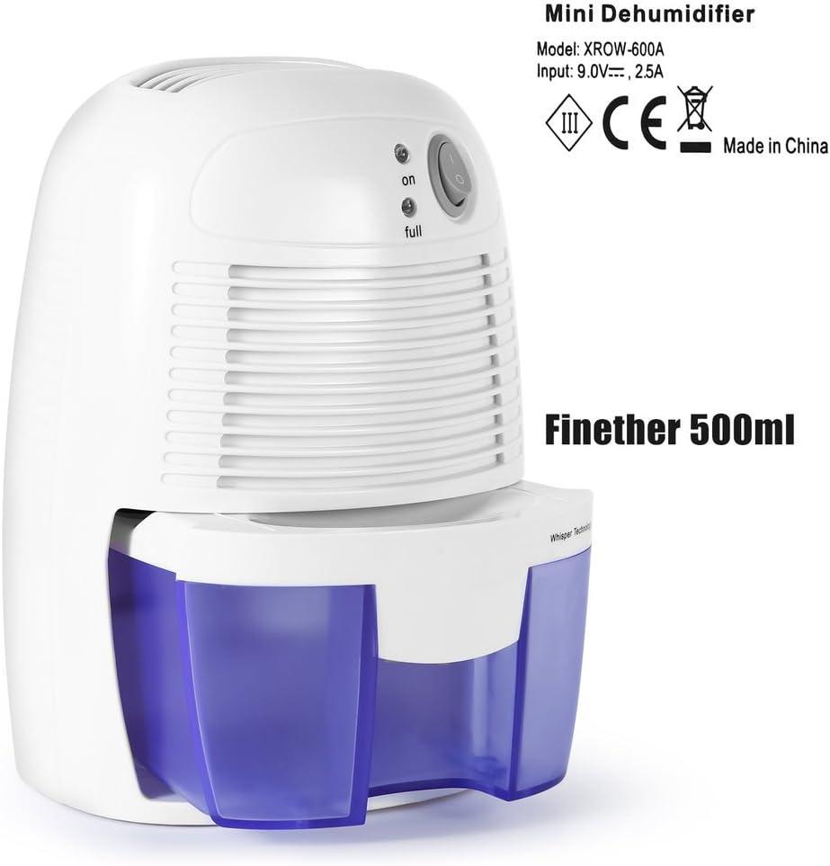 ICOCO Deshumidificador Portátil, 500ML Deshumidificador Compacto ...