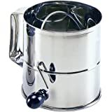 Norpro Polished 8-Cup Stainless Steel Hand Crank Sifter