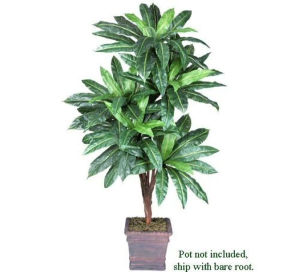 6' Bird Nest x5 Artificial Tropical Tree Silk Plant NEW, with No Pot