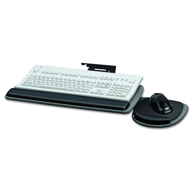 Fellowes 93841 Adjustable Standard Keyboard Platform, 20-1/4w x 11-1/8d, Graphite/Black (Pack of 1.)
