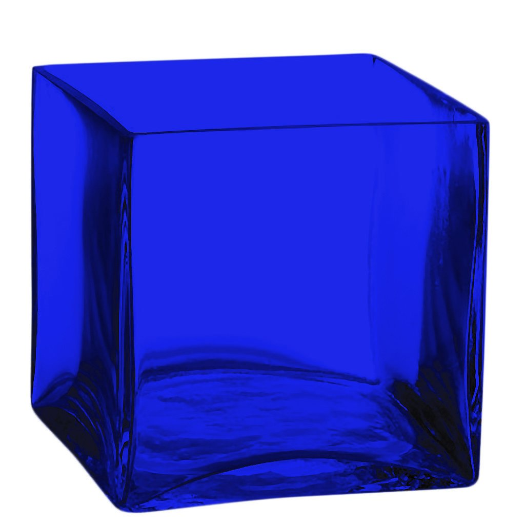 Amazon square glass vase 5 inch clear cube center piece amazon square glass vase 5 inch clear cube center piece full color cobalt blue additional vibrant colors available by tabletop king kitchen reviewsmspy