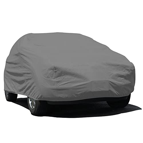 Budge Rain Barrier SUV Cover Fits Medium SUVs up to 186 inches, URB-1 - (Polypropylene with Waterproof Film, Gray)
