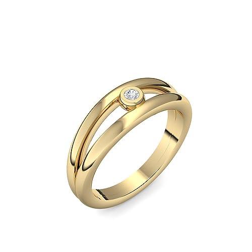 Compromiso anillos oro con Swarovski piedra + estuche! Gold Ring ...