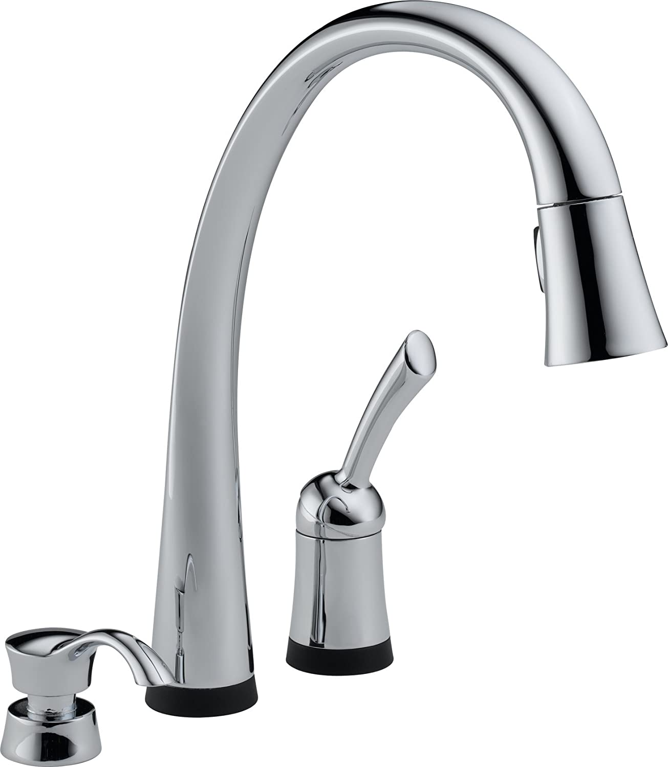 Delta 980T-SD-DST Pilar Single Handle Pull-Down Kitchen Faucet with ...