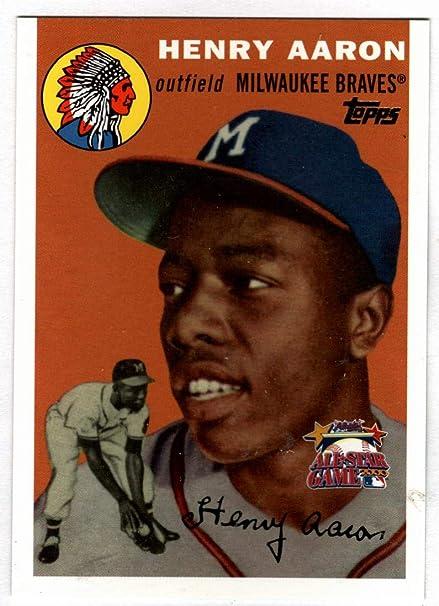 2000 Topps Hank Aaron Fanfest 1954 Rookie Reprint Card Never