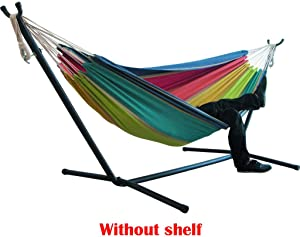 ESKNAS Double Hammock 2 Person Striped Hanging Chair Large Chair Hammocks Bed for Backyard, Porch, Outdoor and Indoor Use 200x150 cm/78.7x59.1 inch (K)