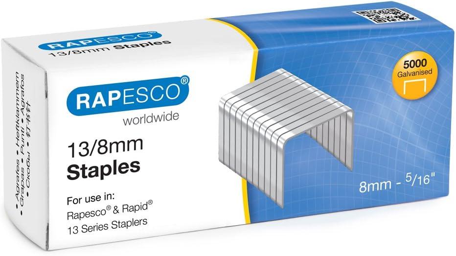 Rapesco Grapas - Caja de 5000 grapas 13/6 mm, para grapadoras manuales y de pared: Amazon.es: Oficina y papelería