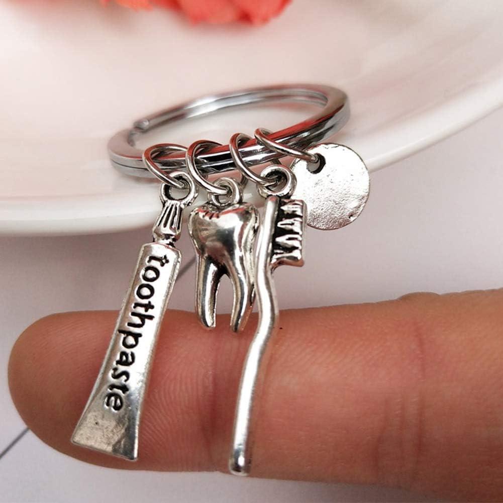comme sur limage Nuohuilekeji Creative Dentiste Brosse /à Dents Dentiste Porte-cl/és Hygi/énique Cadeau