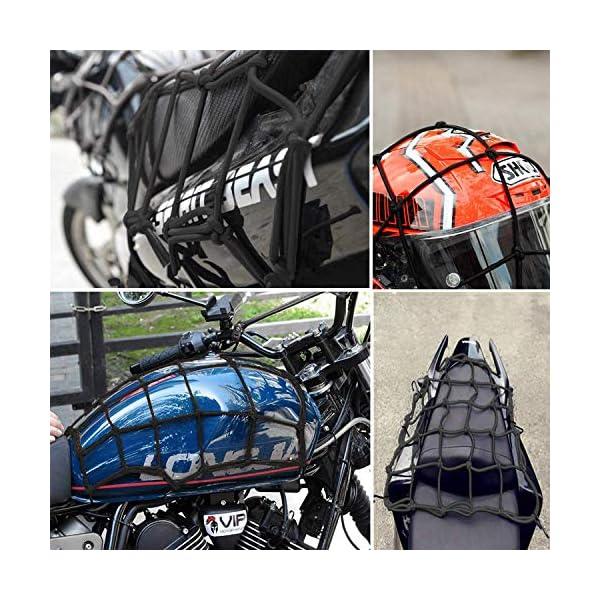 61OyE6IT99L HUOHUOHUO Gepäcknetz Elastisch,Gepäcknetz Fahrrad,Gepäckspanner mit Haken Fahrrad,Spannseil mit Haken Verstellbar…