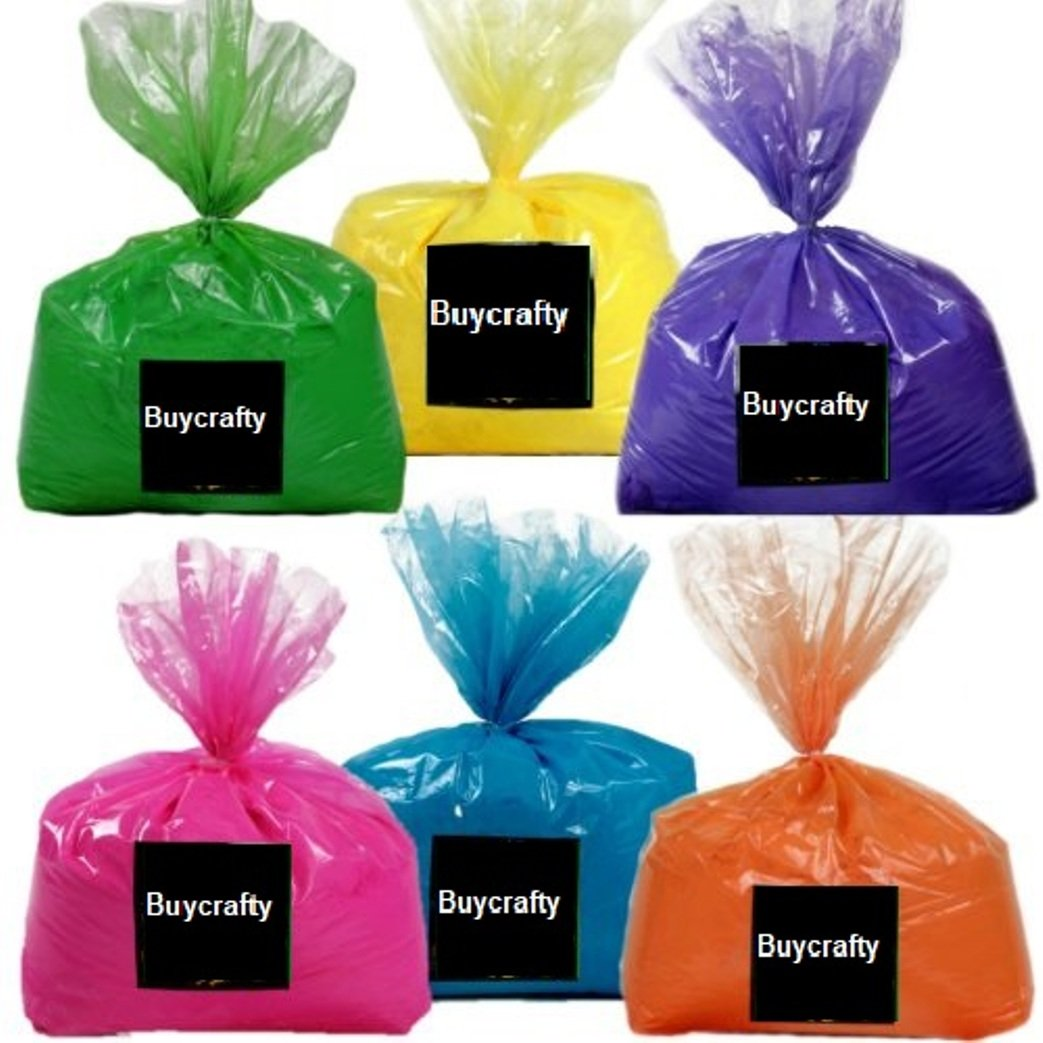 Buycrafty Multi Mix Pack 30 Pounds - 5 pounds of 6 colors - Ideal for color run events, youth group color wars, Holi events and more, Festival Colors (Rangoli)