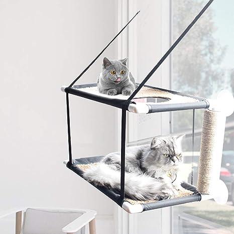 NNuodekeU - Hamaca para Gato o balcón, 20 kg, Tela ...