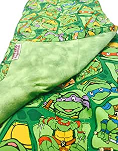 "Mosaic Weighted Blanket Kids/Teen - Teenage Mutant Ninja Turtles (TMNT) (1, Kids 38""x42"" - 7 lbs.)"