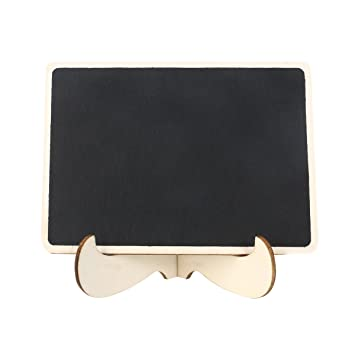 ROSENICE Mini pizarras rectángulo pizarra con soporte para ...