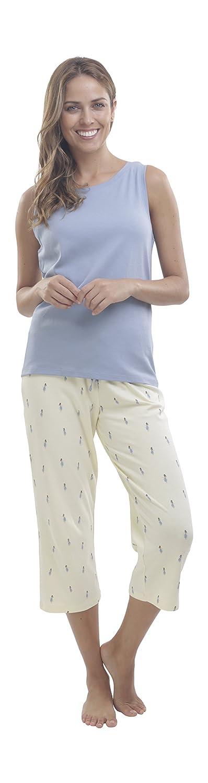 jijamas SLEEPWEAR レディース B07BFG3J5M XX-Large/Reg (5'5 or shorter)|Ashley Blue/Pastel Yellow Ashley Blue/Pastel Yellow XX-Large/Reg (5'5 or shorter)