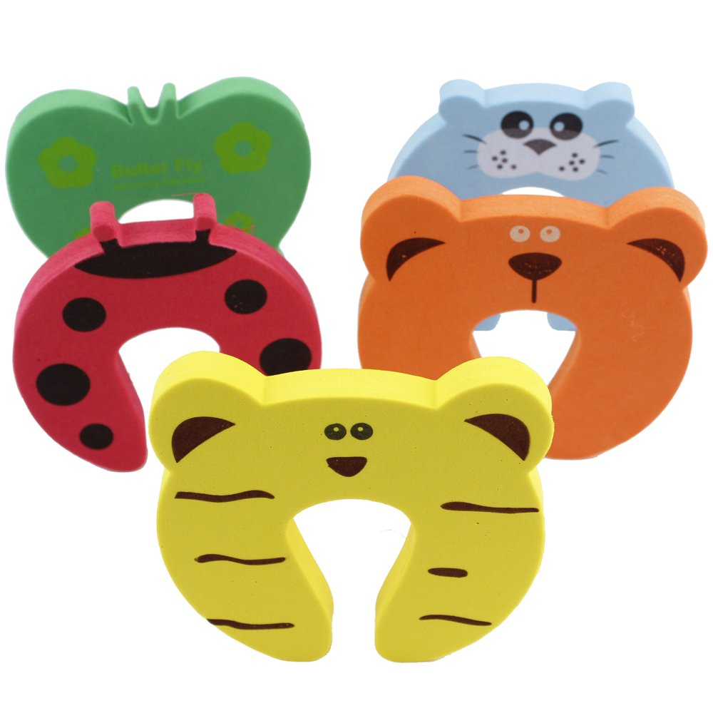 Amazon.com : 5 Pcs Baby Kids Safety Door Stopper Cute Finger Pinch Guard  Protector Cartoon : Baby