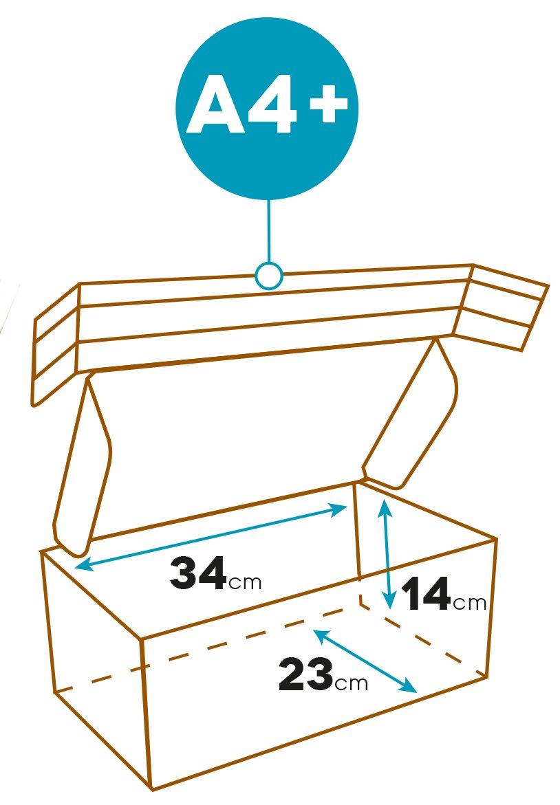Elba 400079261 Scatola per Spedizione Formato Interno 34X24X14 cm Colore Marrone e Bianco