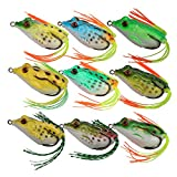 Goture 9pcs/lot Topwater Frog Fishing Lure 5.5CM 12.45g Fishing Artificial Lure Frog Bait