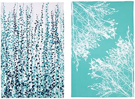 Ulster Weavers Clarissa Hulse CH Blue Fynbos Cotton Tea Towel 2 Pack 023CBL