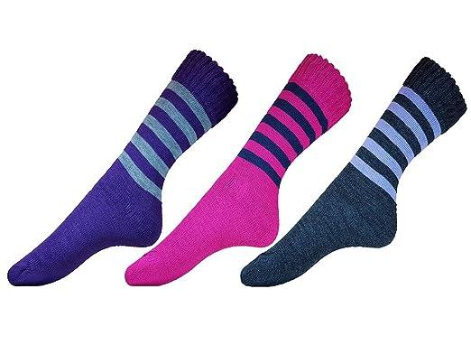 KingTop Calcetines de mujeres Senderismo 6 pares de calcetines de Trekking y montaña, para Actividades