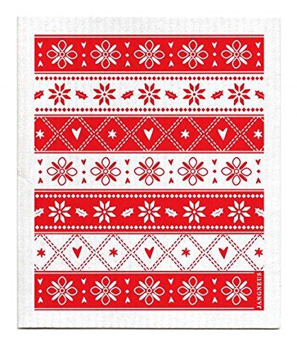 Amazon Swedish Dishcloth Christmas Holiday Knitted Red