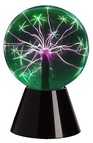 Lightahead 6 Plasma Ball Lamp Crystal Green Color Globe Design Touch Sound Sensitive (Color: Green)