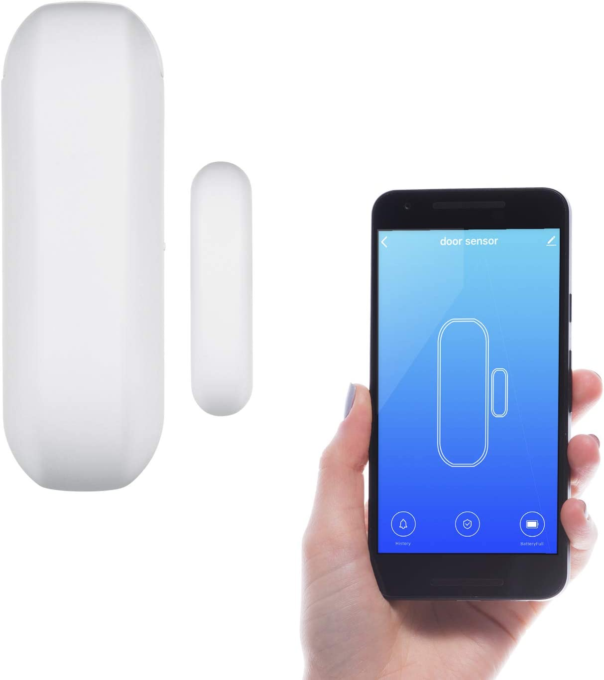 Wasserstein Smart Door Sensor - Door and Window Movement Detection and Home Automation