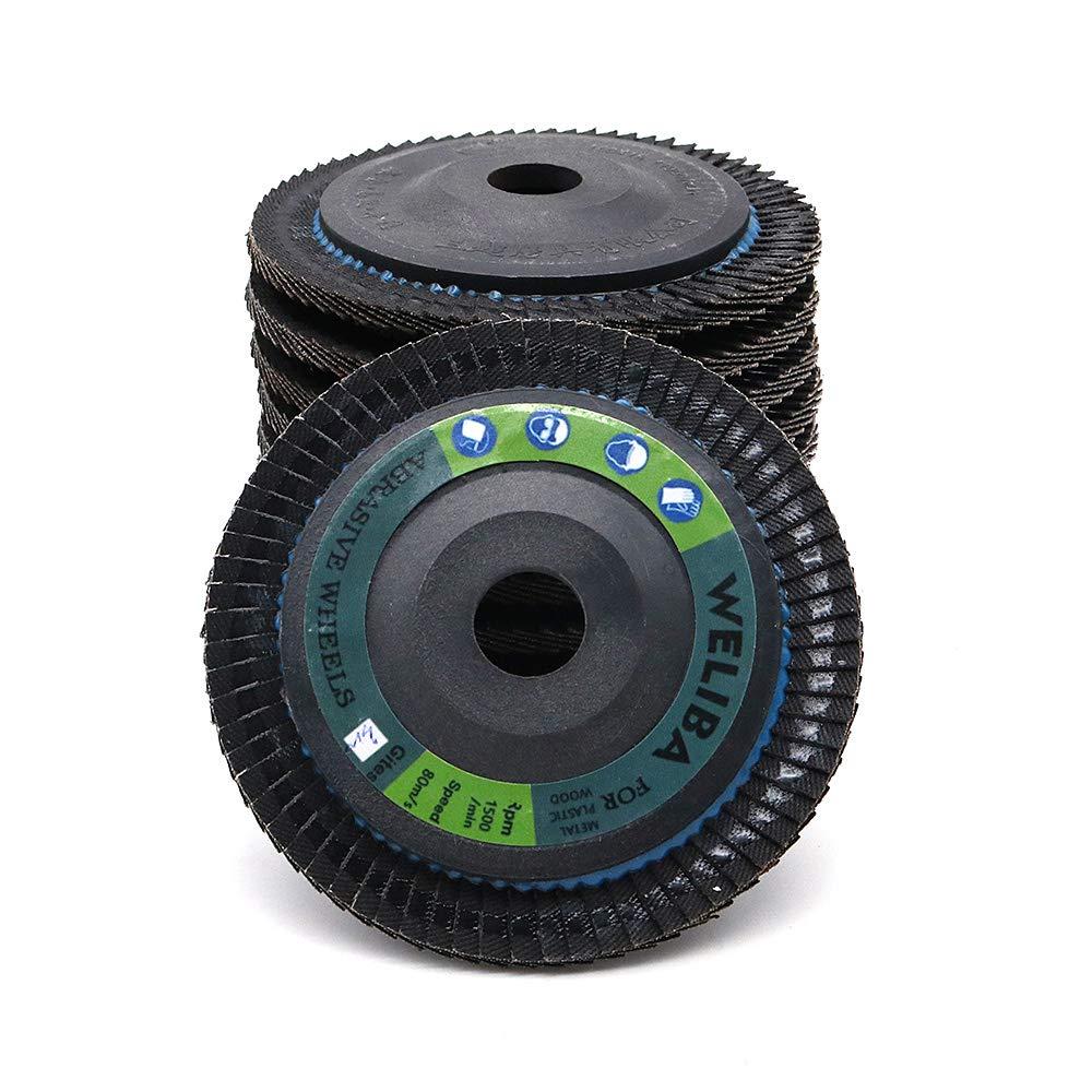 WINGONEER 10-Pack 100mm 3.9inch Premium High Density Calcined Aluminum Oxide Flap Disc 320 Grit