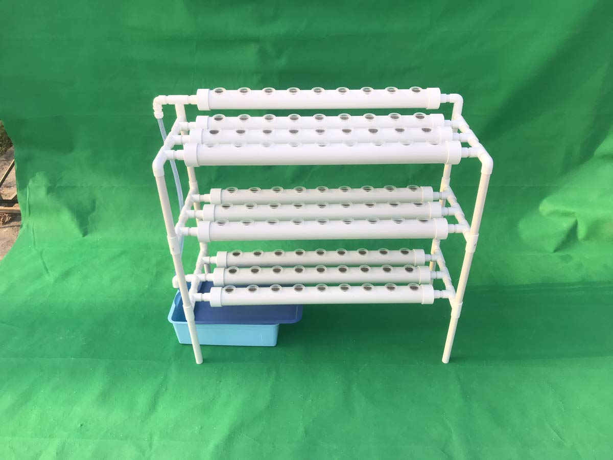 LAPOND Hydroponic Grow Kit,3 Layers 90 Plant Sites PVC Pipe Hydroponics 10 Pipes Hydroponics Growing System Water Culture Garden Plant System for Leafy Vegetables by LAPOND (Image #4)