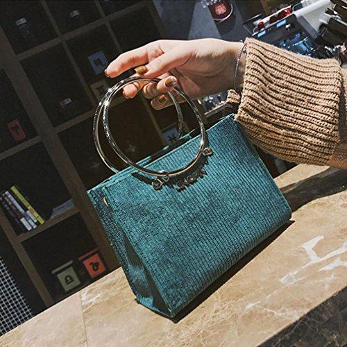 des de à mode ronde Vert de Sac laine main le femmes de à bandoulière Sansee sac décoration Crossbody Sacs d'épaule avec de gddw6zqFx