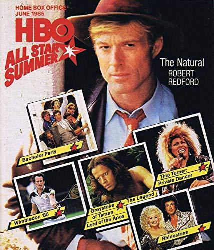 ORIGINAL Vintage June 1985 HBO Magazine The Natural Bachelor Party Tina Turner]()