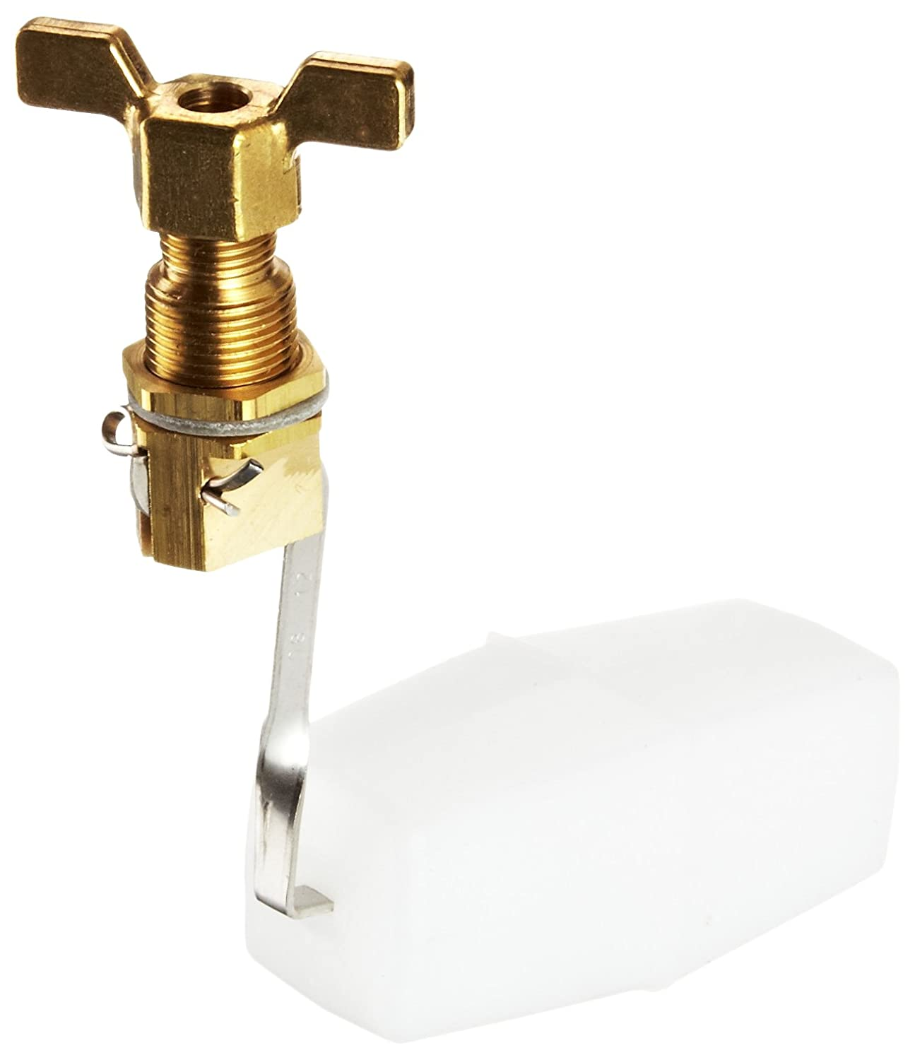 3//64 Orifice 125 psi Pressure 1//4 Compression Wing Nut Robert Manufacturing RM292 Series Bobby Series Brass Miniature Valve and Float Assembly