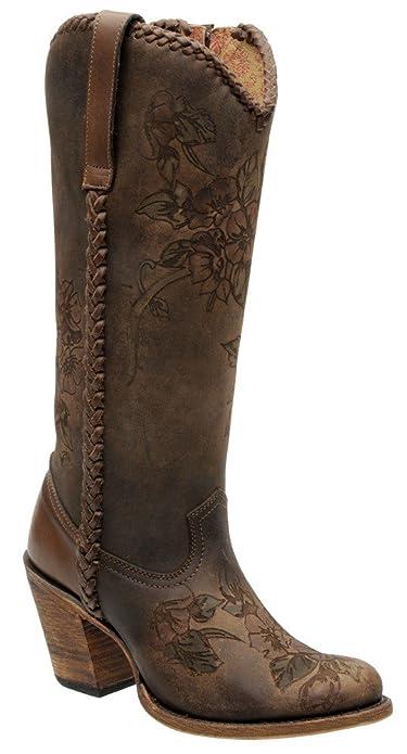 b1faa26d365 Botas Vaqueras de Dama en Piel de Ternera Cuadra  Amazon.es  Zapatos y  complementos