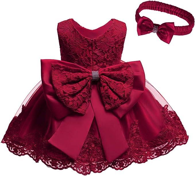 Baby Girl Formal Dress Christening Dress Toddler Birthday Party Dress 0-24M