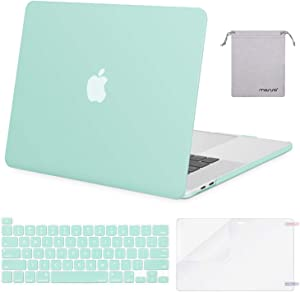 MOSISO MacBook Pro 16 inch Case 2019 Release A2141 with Touch Bar & Touch ID, Plastic Hard Shell Case & Keyboard Cover & Screen Protector & Storage Bag Compatible with MacBook Pro 16, Mint Green