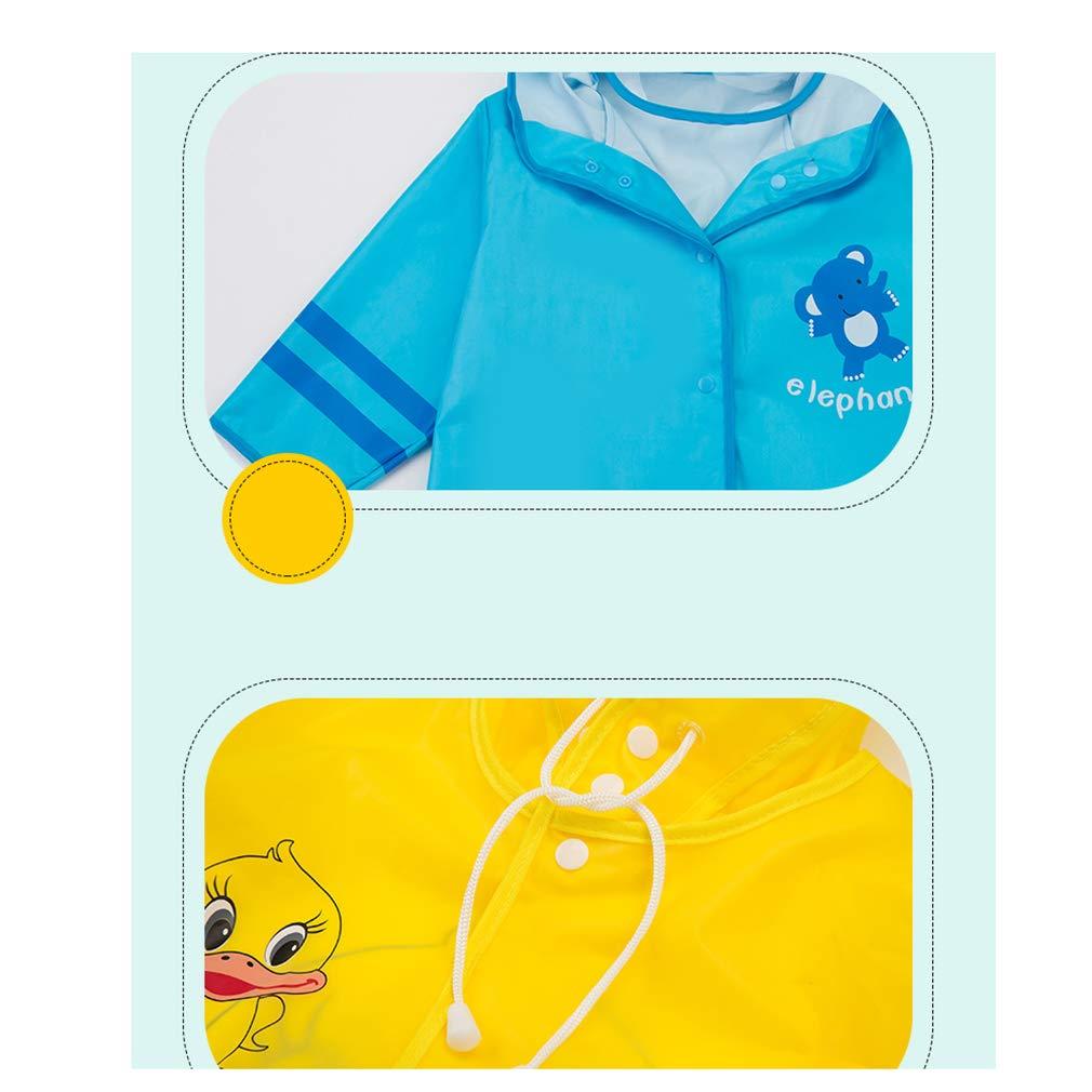 Wetry Impermeabile Antipioggia Bambino,Unisex Impermeabile di Pioggia Cartoon Animale Poncho con Cappuccio Giacca Antipioggia 75-115CM