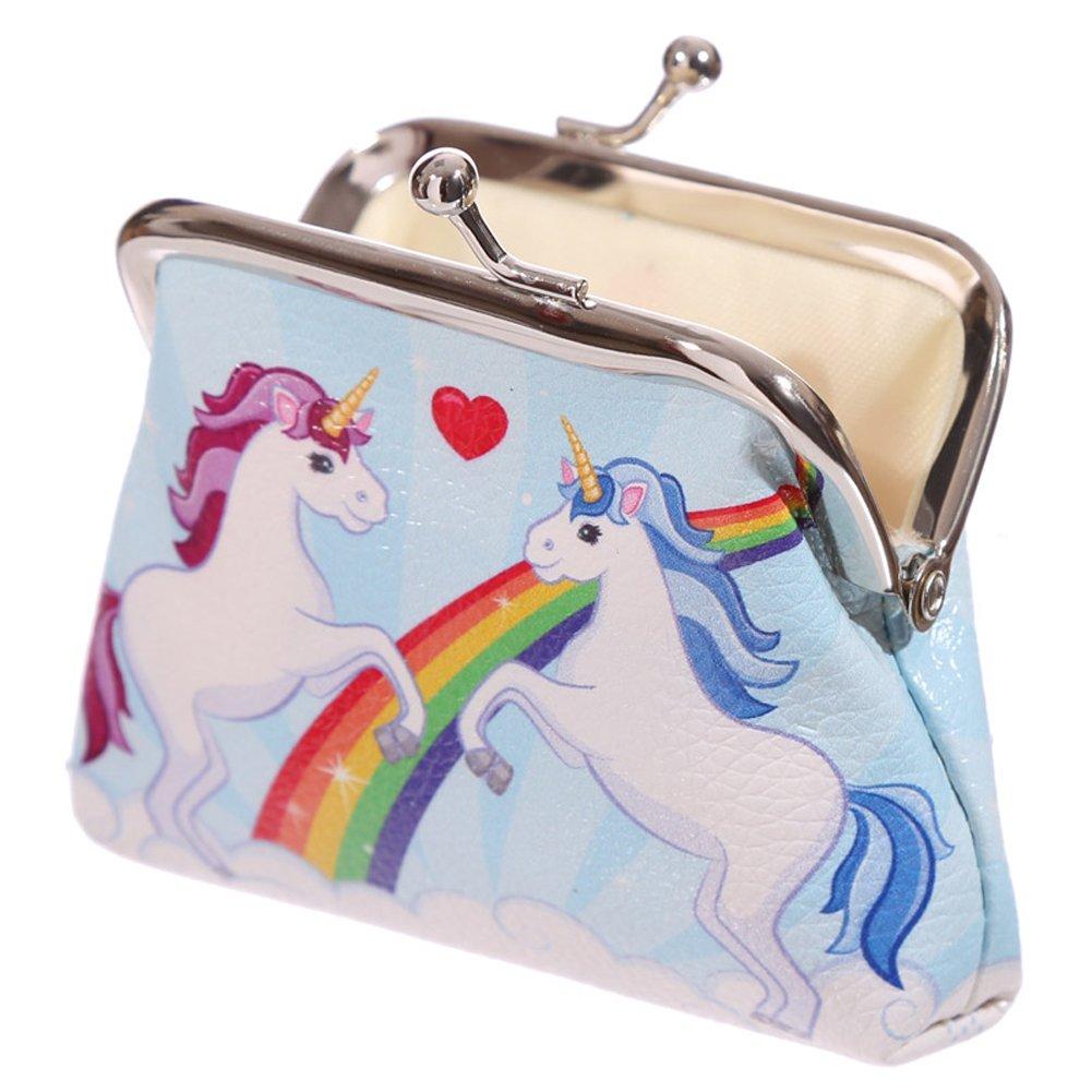 Clasp Wallet Magical Unicorn Coin Pinch Purse