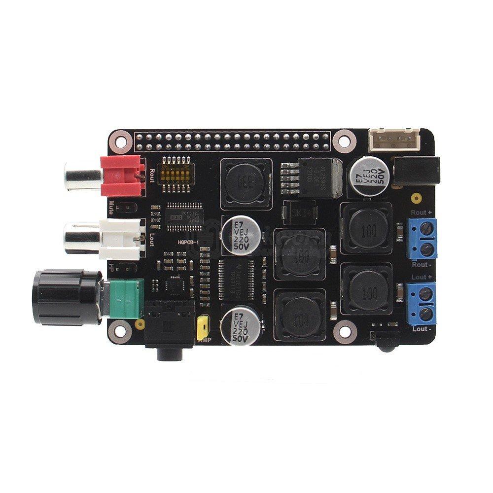 Raspberry Pi 3 Model B Dac Full Hd Pcm5122 Amplifier Class D Circuit Tpa3116d2 Tpa3118d2 Subwoofer X400 Expansion Board W I2s Music Player For 3b 2b