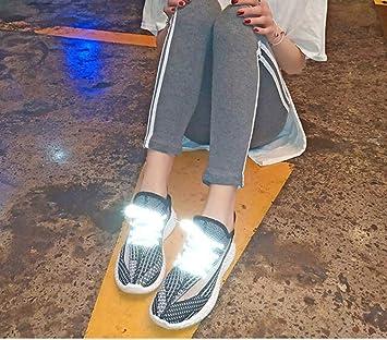 XHHXPY Zapatillas Running Calcetines Brillantes Zapatos Mujer Zapatillas Aire Libre Y Deporte Transpirables Casual Zapatos Gimnasio Correr Sneakers,02,39: Amazon.es: Deportes y aire libre