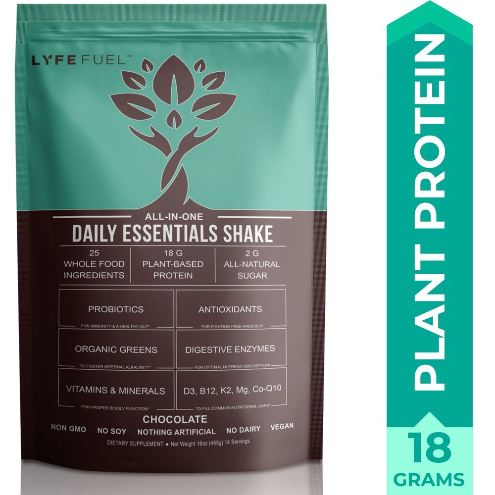 Amazon.com: Vegan Meal Replacement Shake by LyfeFuel - Low Carb ...