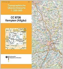 Kempten Allgau Topographische Karte 1 200 000 Cc8726